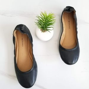 Lucky Brand Echo2 Black Leather Ballet Flats Shoes